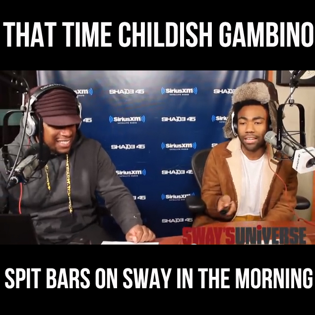 TBT Sway in the Morning Freestyle: Childish Gambino