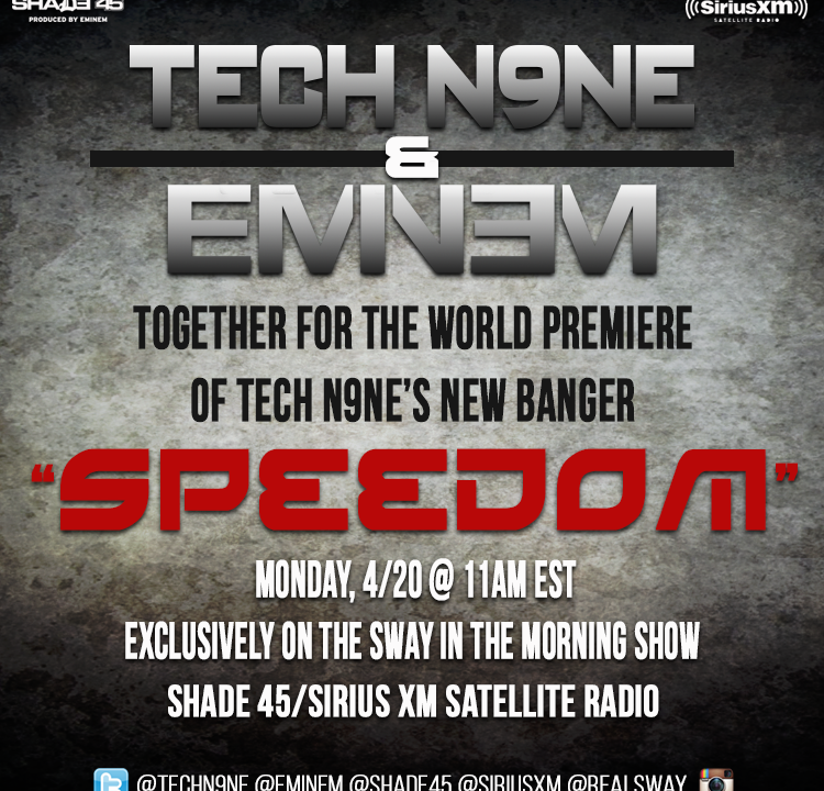 "WORLD PREMIERE: Tech N9ne & Eminem Collab For the First Time Since '98. Listen to ""Speedom"""