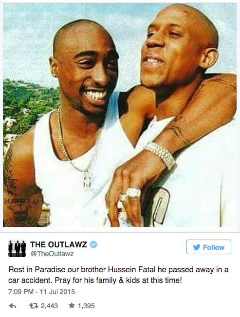 Rapper Hussein Fatal, Member of Tupac-Led Group Outlawz
