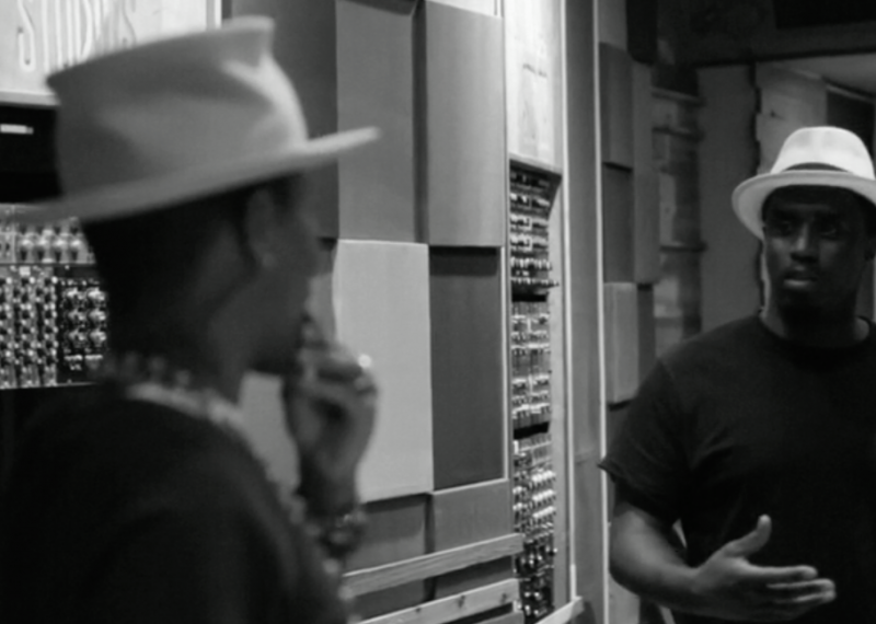 Puff and Pharrell hit the studio together to create a new sound