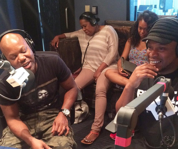 DJ Moma spins live on Sway in the Morning