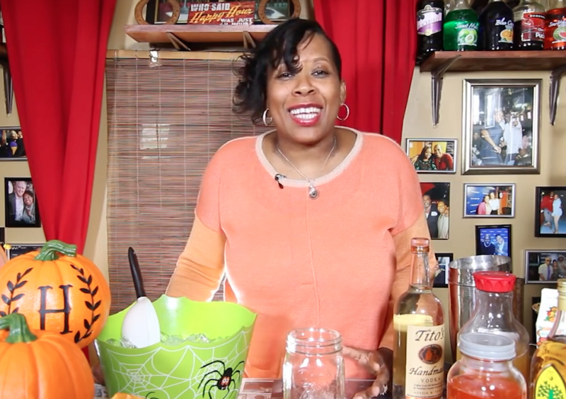 The Happy Hour With HB: Learn How to Make a Homemade Candy Corn Vodka Drink