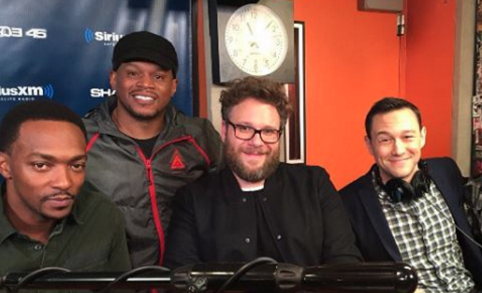 Seth Rogen, Anthony Mackie & Joseph Gordon-Levitt FREESTYLE on Sway in the Morning. Whose is Better?!