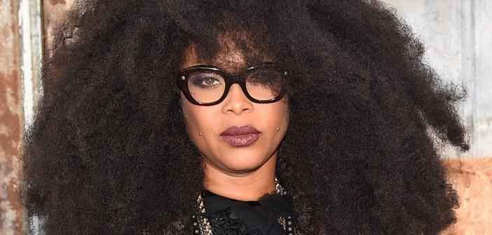 NEW YORK, NY - SEPTEMBER 11:  Singer-songwriter Erykah Badu attends the Givenchy fashion show during Spring 2016 New York Fashion Week at Pier 26 at Hudson River Park on September 11, 2015 in New York City.  (Photo by Michael Loccisano/Getty Images)
