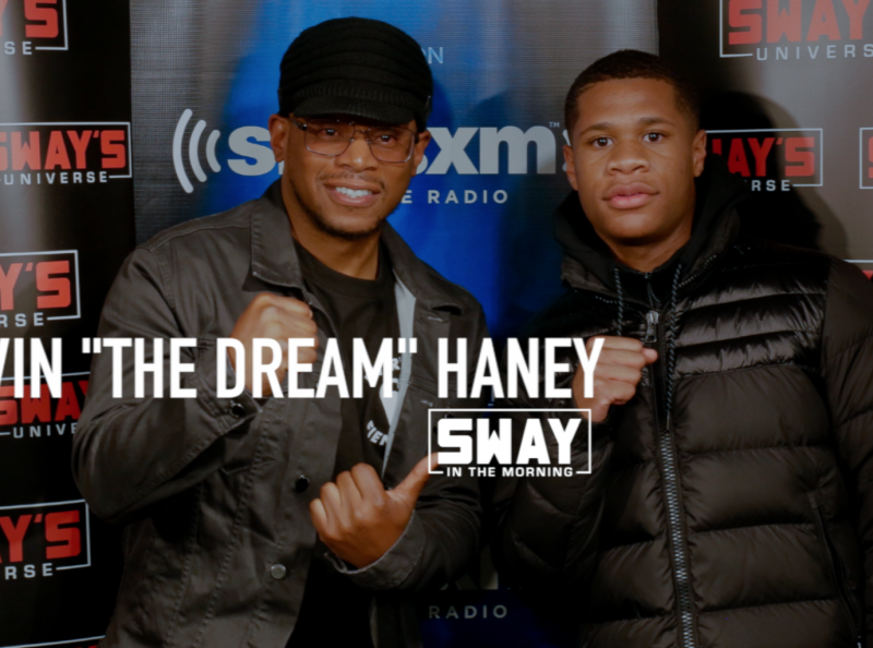 17-Year Old Devin Haney Youngest Professional Boxer in the U.S. Talks Training with Floyd Mayweather Sr., Hanging Out at Jay-Z House, Signing Himself and Shows Off Hand Speed Live on Air