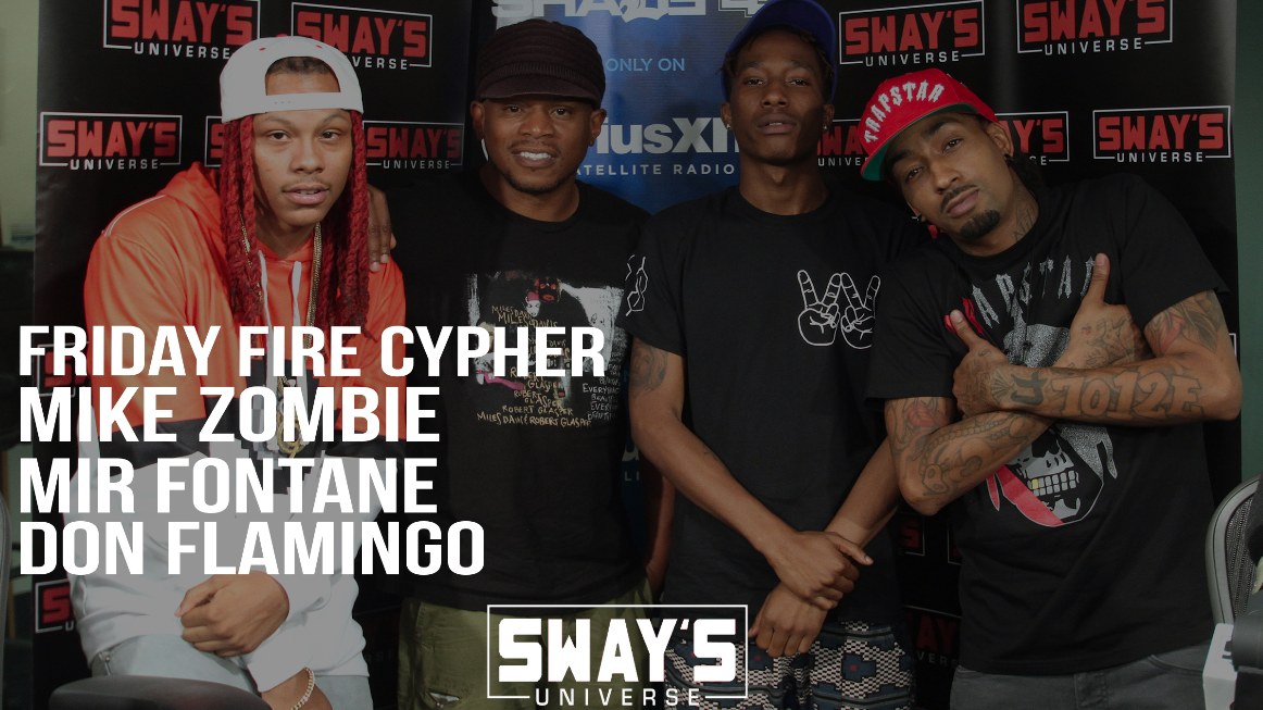 Friday Fire Cypher: Mike Zombie, Mir Fontane, & Don Flamingo Freestyle Live Over Mike Zombie's Beats