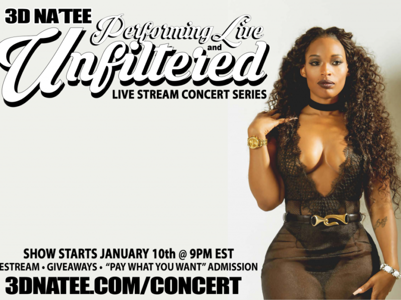TONIGHT: 3D NA'TEE Does a Special Live Stream Concert