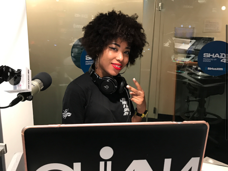 Quiana Parks Mixes Live on Sway in the Morning