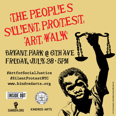 Silent Protest Art Walk Curated by Kindred Arts with contributions from Dream Hampton, Emory Douglas, Jamal Joseph and more