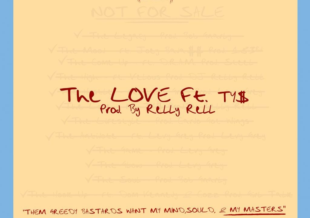 "Listen to Smoke DZA's ""The Love"" feat. Ty Dolla $ign from his New Album ""Not For Sale"""