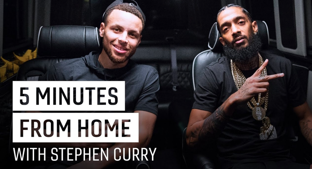 "Stephen Curry Chops It Up With Nipsey Hussle In The Latest ""5 Minutes From Home"" Episode"
