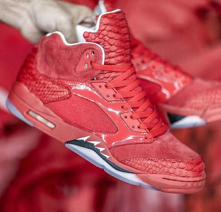 Custom Sneaker Designer Richie Range Releases Blood Red Jordan 5's