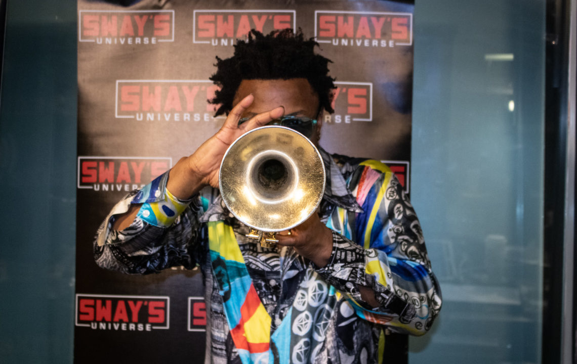 "Maurice ""Mo Betta"" Brown Plays 24k Gold Trumpet Live on Sway in the Morning"