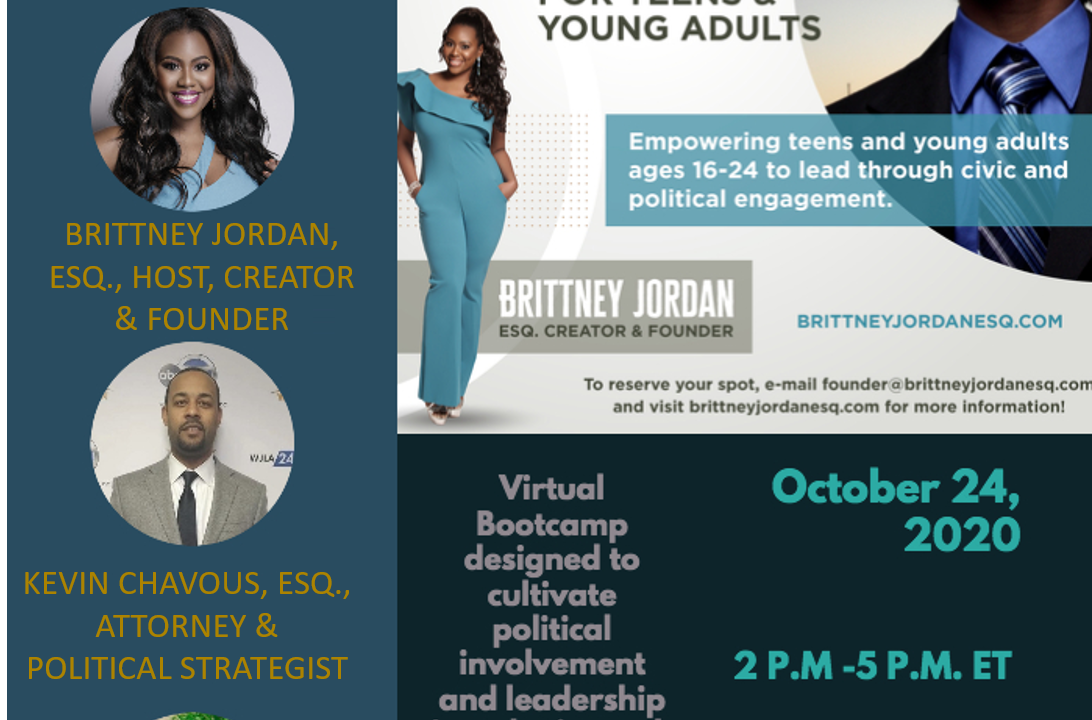 Brittney Jordan Launches The Political and Civic Engagement Bootcamp pn October 24th